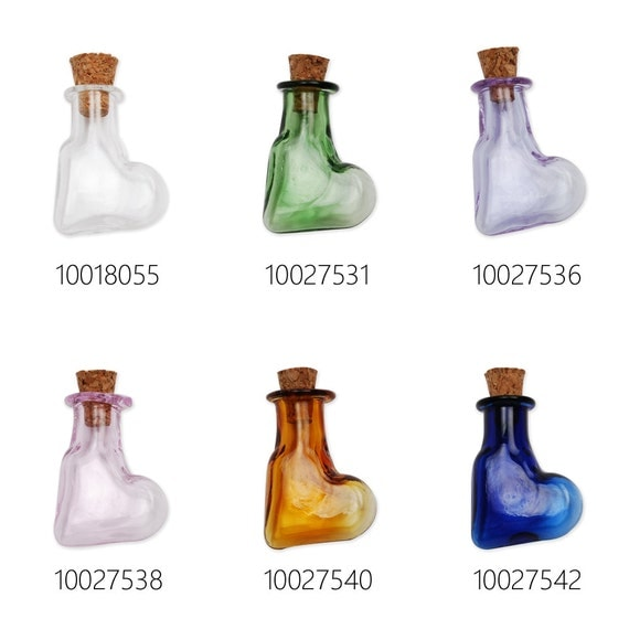 10pcs colorful tiny glass bottles small glass bottles for Colored glass bottles with corks