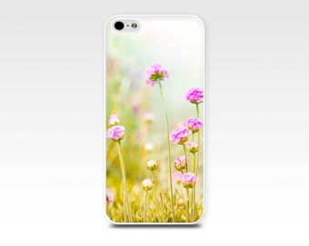 floral iphone case 6 flowers iphone case 5s botanical case 5 spring iphone case 4s nature iphone case 4 pastel iphone case girly pink lemon