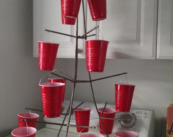 Red Solo Cup Party Christmas Tree