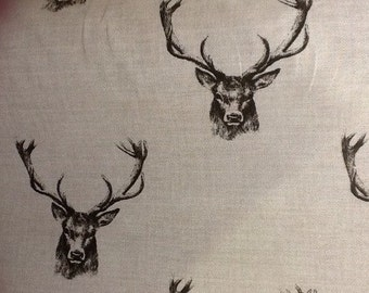 fryetts stags cotton curtain fabric by the half metre
