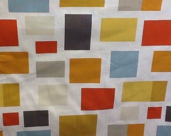 Harlequin scion blocks fabric in Chalk, Neutral, Lime, Powder Blue and Coral by the metre