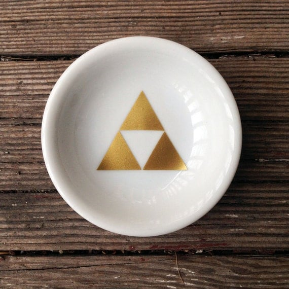 Ring Dish | Zelda | Wedding | Triforce | Engagement Gift | Jewelry Dish