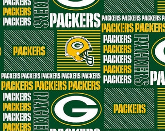 NFL Greenbay Packers Cotton V1 Fabric by the yard