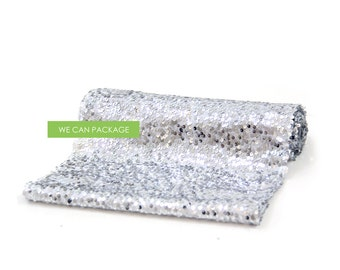 "SALE! Silver Sequin Table Runner 12"" x 96"""