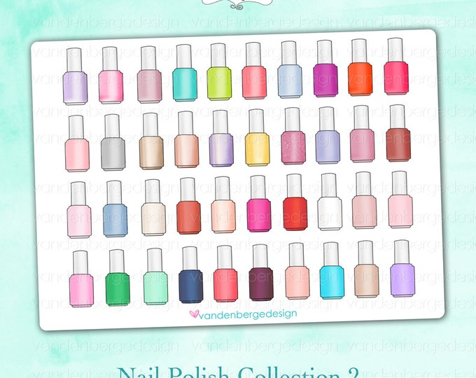 Planner Calendar Stickers- Nail Polish Collection 2- Perfect for the Erin Condren Life Planner