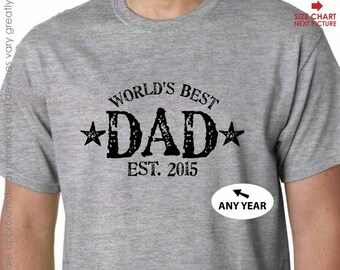 World's Best Dad Shirt - New Dad Shirt - Father's Day Gift - Dad Birthday Gift or Dad Christmas Gift