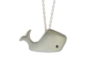 Whale Necklace - White Bronze Sperm Whale Pendant