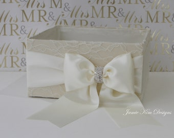 Laced Wedding Open Box/ Program Box / Bubble Box- custom made to order