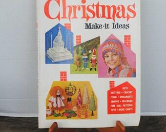 Vintage McCall's Christmas Make It Ideas Magazine Volume XV