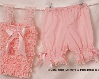 Light Pink Pettiromper and Bloomer Set