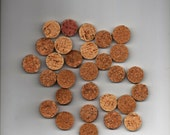 200 Natural Hand Cut Wine Cork Slices Vase Filler Table Confetti Mosaic Crafts