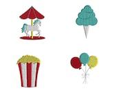 Mini Carnival Machine Embroidery Designs-INSTANT DOWNLOAD