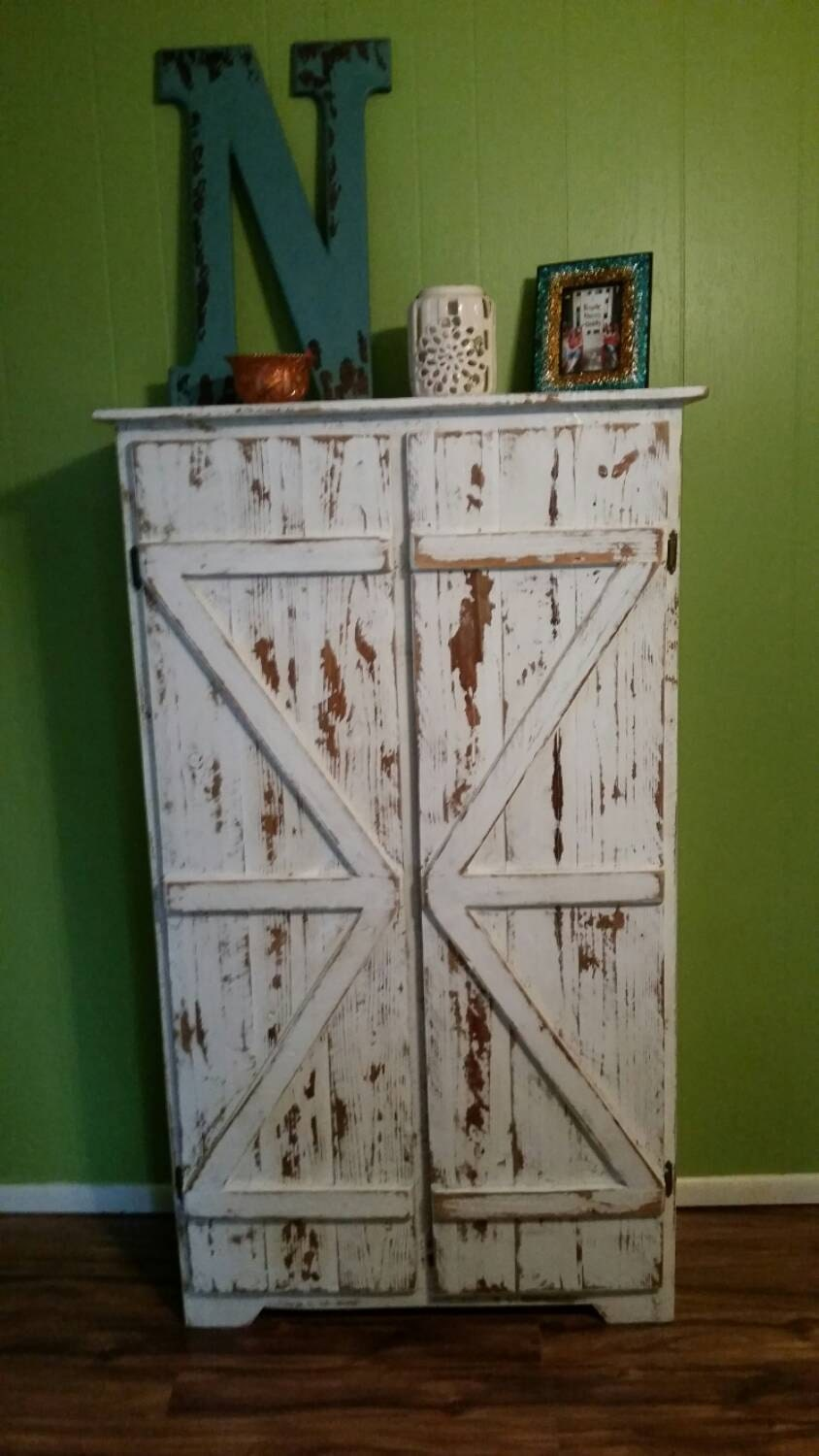Reclaimed Solid Wood Pie Safe Kitchen Pantry By
