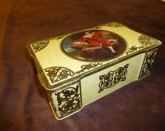 Candy Box Vintage Tin A.S. Wilkin Ltd. Cremona Red Boy Toffee