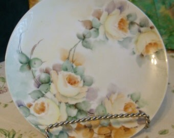 Yellow Rose Plate Hand Painted, Graham China