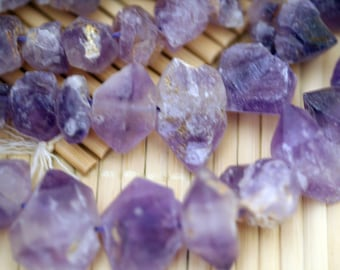Natural Rock Ametrine Irregular Beads Strand, 16-Inch Strand G01057