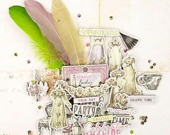Prima Debutante Collection Chipboard And More Prima New Release Scrapbook Embellishments