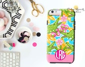 Monogrammed iPhone Case - iPhone 6/5s/5 - Personalized Cell Phone Case - Preppy Gator