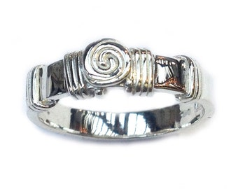 Celtic Spiral Ring - Sterling Silver