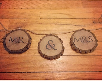 Mr. & Mrs. - Personalized Wood Cut Sign, Wedding, Shower, Home Decor, Photo Prop