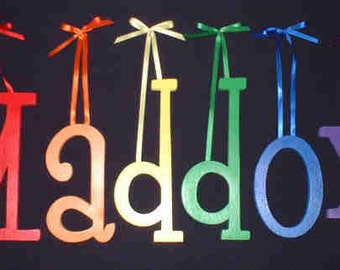 """8"""" Size Painted Wooden Wall Letters, Thin-Whimsical Font, Gifts and Decor for Nursery, Home, Playrooms, Dorms"""