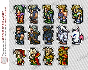 16bit Final Fantasy 3 / Final Fantasy 6 - Car/Refrigerator Magnets
