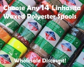 Buy Any 14 Linhasita Macrame Colors- Whole Sale Discount Package- waxed polyester cord - Hilo