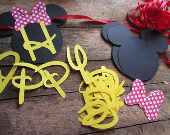 DIY Birthday Banner Minnie Mouse inspired Birthday banner Mickey Minnie party