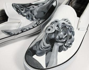 Angels en grey, custom paint slip ons