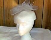 Beautiful WHITE WEDDING Hat
