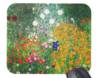 Gustav Klimt Flowers Floral Mouse Pad Mousepad