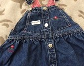 Adorable Oshkosh dress size 18 months abc's and cats denim