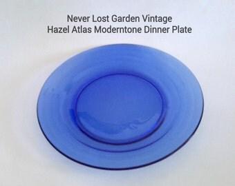 Plate Cobalt Moderntone Hazel Atlas Vintage