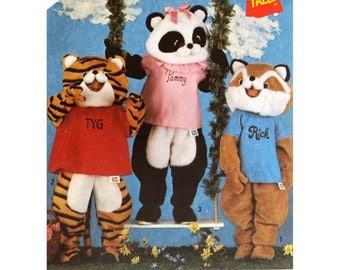 Tiger Costume Children's Pattern Simplicity 6193 Halloween Racoon Costume