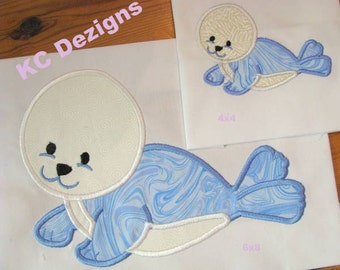 Polar Seal Machine Applique Embroidery Design - 4x4, 5x7 & 6x8