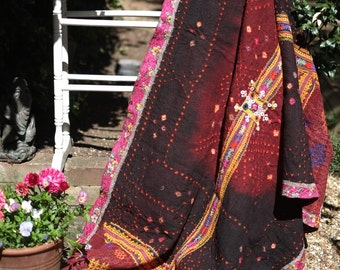 Vintage Rabari Shawl, Rabari wedding shawl,Tribal shawl, Rajasthani Shawl, vintage throw, hand made throw