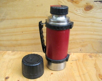 Vintage red thermos