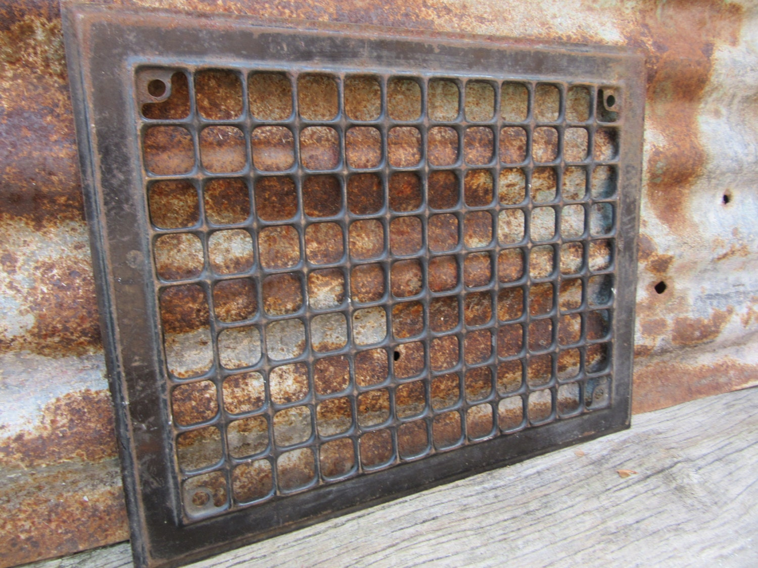 #836748 Antique Metal Heating Duct Cover Vent Aged Patina Victorian Best 3573 Heating Duct Covers photos with 1500x1125 px on helpvideos.info - Air Conditioners, Air Coolers and more