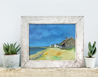 """Oil Painting, 10x8"""", """"At the beach"""" by B. Kravchenko, Ready to ship, Beach Decor, Gift for Her, Holiday, Christmas, Decor, Thanksgiving"""
