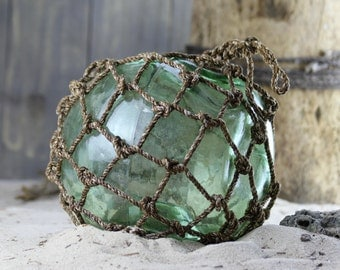 "Beach Decor Fishing Float 9-10"" Greenish by SEASTYLE"