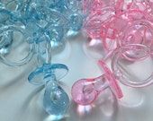 """12 Baby shower Pacifier 3 1/4"""", pink pacifier, blue pacifier, baby shower decoration, baby shower favors, pacifier Supplies"""