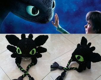 Crochet Toothless Beane/Hat (How To Train Your Dragon)