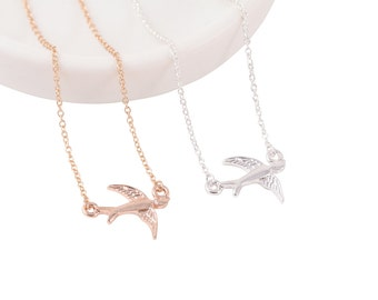 Holiday SALE 50% OFF Sparrow Bird Necklace ... GOLD