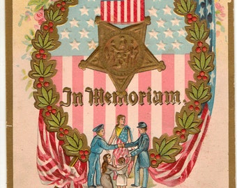 Vintage Postcard, Decoration Day Postcard, To the Unknown Soldier, ca 1915