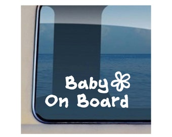 Baby on Board  Plumeria Decal Family Child  Sticker 440