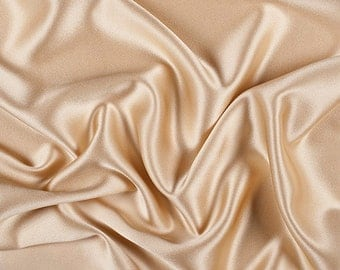 """45"""" Wide 100% Silk Crepe Back Satin Gold by the yard"""