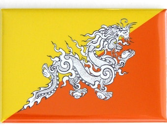 Flag of Bhutan Fridge Magnet