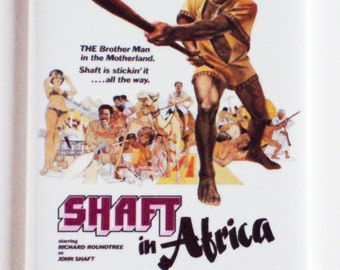 Shaft in Africa Movie Poster Fridge Magnet (2 x 3 inches)