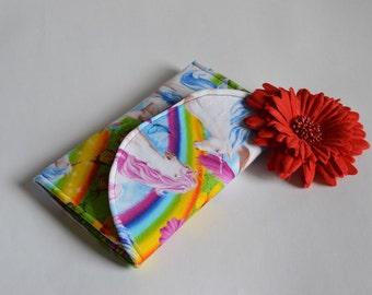 Handmade Unicorn Wallet // Magnetic Clip // Handmade Wallet // Rainbow Wallet // mystical wallet