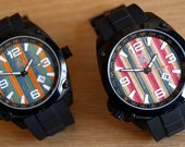 Mens Wrist Watch - Made from Recycled Skateboards